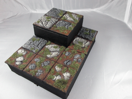 Painted Board Section with Resin Tiles
