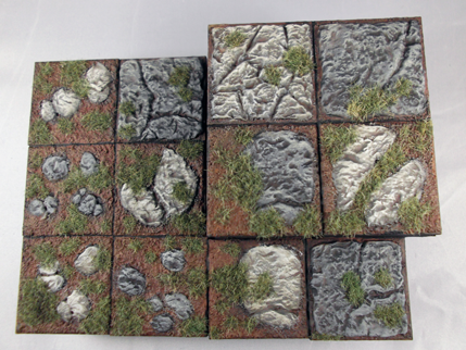 Painted Resin Tiles Set